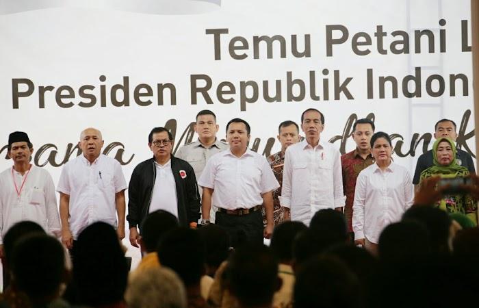 Berkunjung ke Pringsewu Presiden dan Gubernur Serap Aspirasi Petani