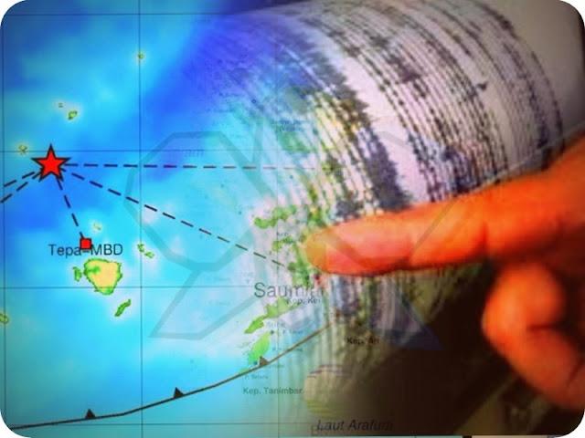 Gempa 4,5 SR Guncang Perairan Teon Nila Serua