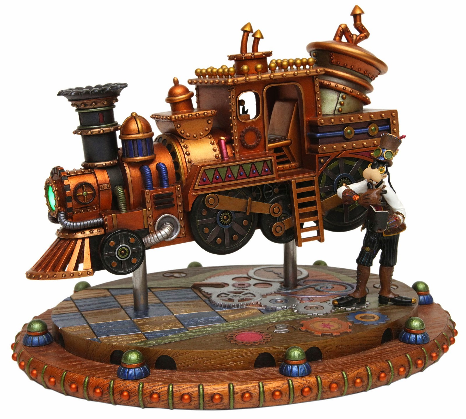 Goofy Train Mechanical Kingdom Figure Figurine Statue gears steampunk Walt Disney World WDW Disneyland