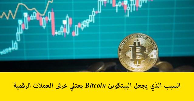 السبب الذي يجعل البيتكوين Bitcoin يعتلي عرش العملات الرقمية