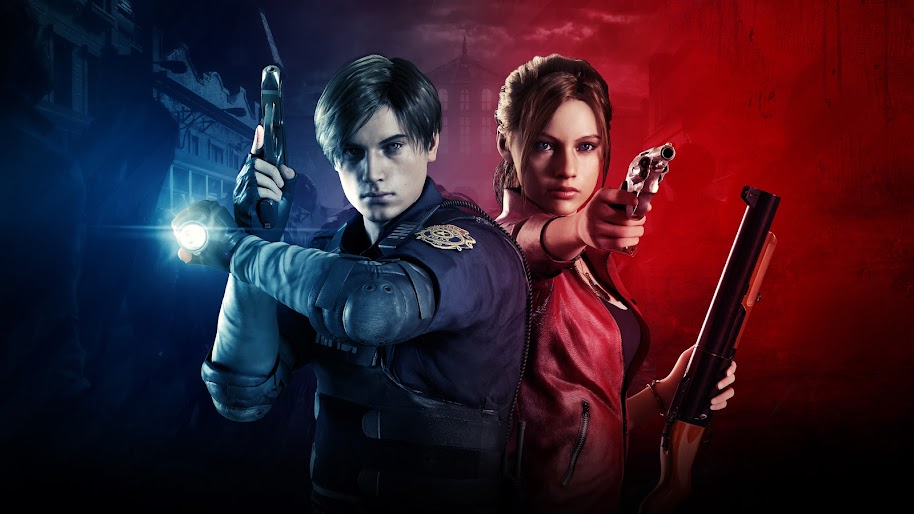 Leon S Kennedy Claire Redfield Resident Evil 2 8k Wallpaper 6