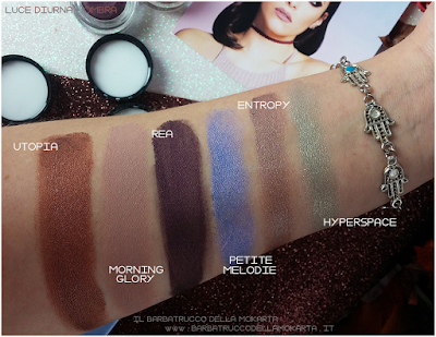 POTION PARADISE OMBRETTI CREMA NABLA CREME SHADOW SWATCHES