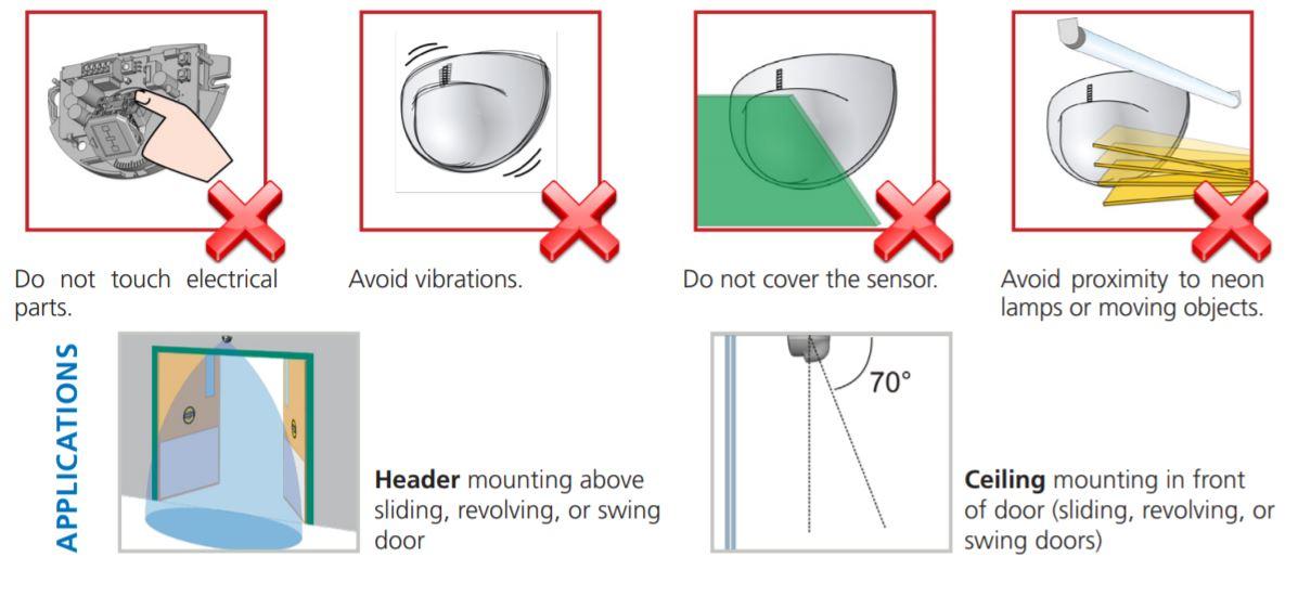 Bea Eagle//SU100 automatic sliding door sensor Stanley