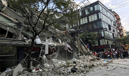 Mexico earthquake kills scores, topples buildings