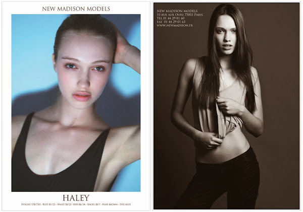 Haley Sutton - Cast Images - New Madison Models - Paris Haute Couture Show Card