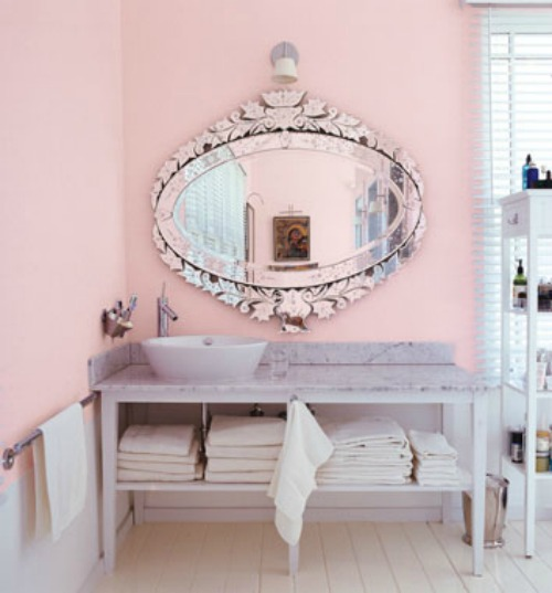 Powdery Pink Interior Decor