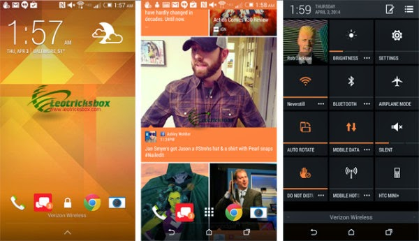 Android Theme : HTC One M8 Sense 6 Theme v1