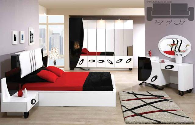 غرف نوم تركية كاملة 2016,غرفة نوم تركية كاملة للبيع, صناعة مصرية, غرف نوم مودرن ابيض في اسود