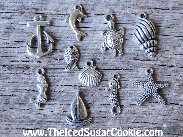 Beach Charms Mermaid Turtle Shell Fish Dolphin Anchor Starfish Boat Nautical- Unique, Cute, Trendy Jewelry For Girls