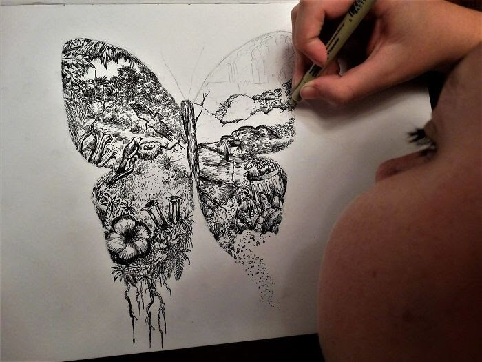 11-Butterfly-and-Nature-Dušan-Krtolica-No-Reference-Drawings-come-from-Memory-www-designstack-co