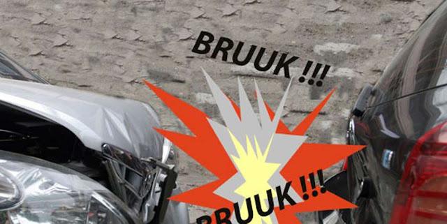 BRAK..!! Empat Mobil Tabrakan Beruntun di Jl Trikora Banjarbaru