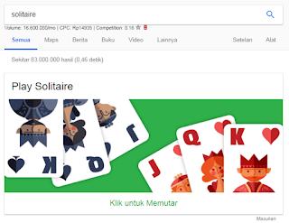 Game Tersembunyi di Google Chrome solitare