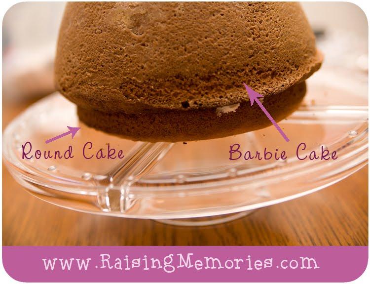 how to make a rapunzel cake with a barbie