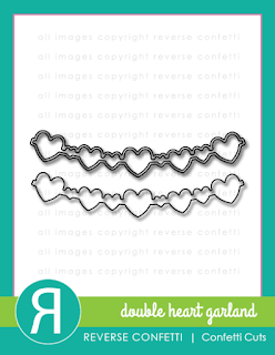 double heart garland