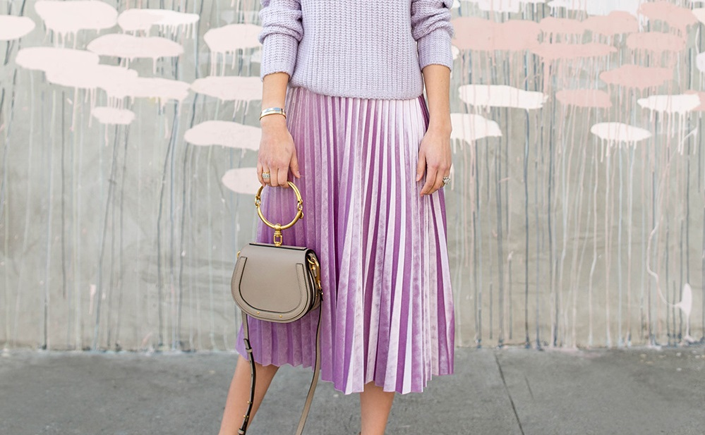 How to wear the Pleated Midi Skirt