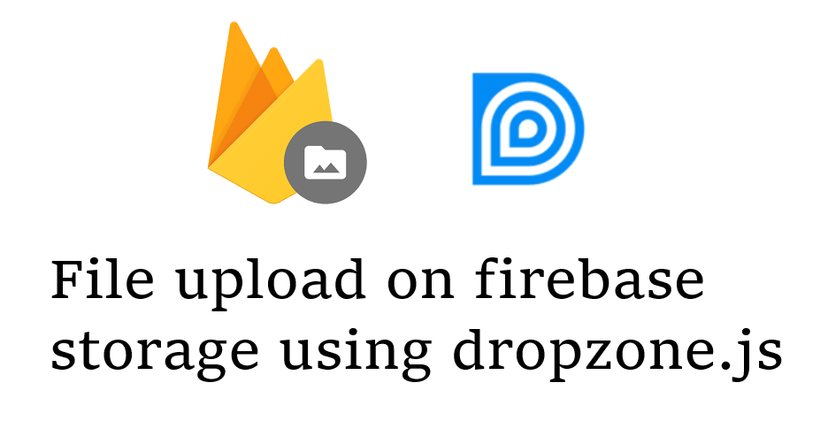 Upload Files to Firebase Storage with dropzone js