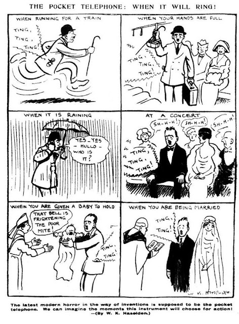 Haseldon's Pocket Telephone Cartoon