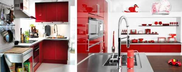 Red and white kitchen 3