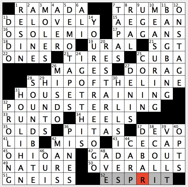 Punsters crossword