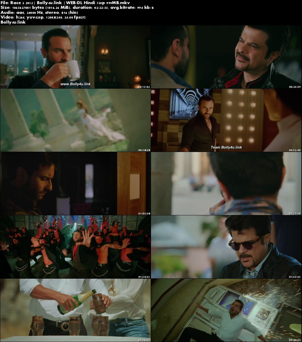Race 2 2013 WEB-DL 400MB Full Hindi Movie Download 480p