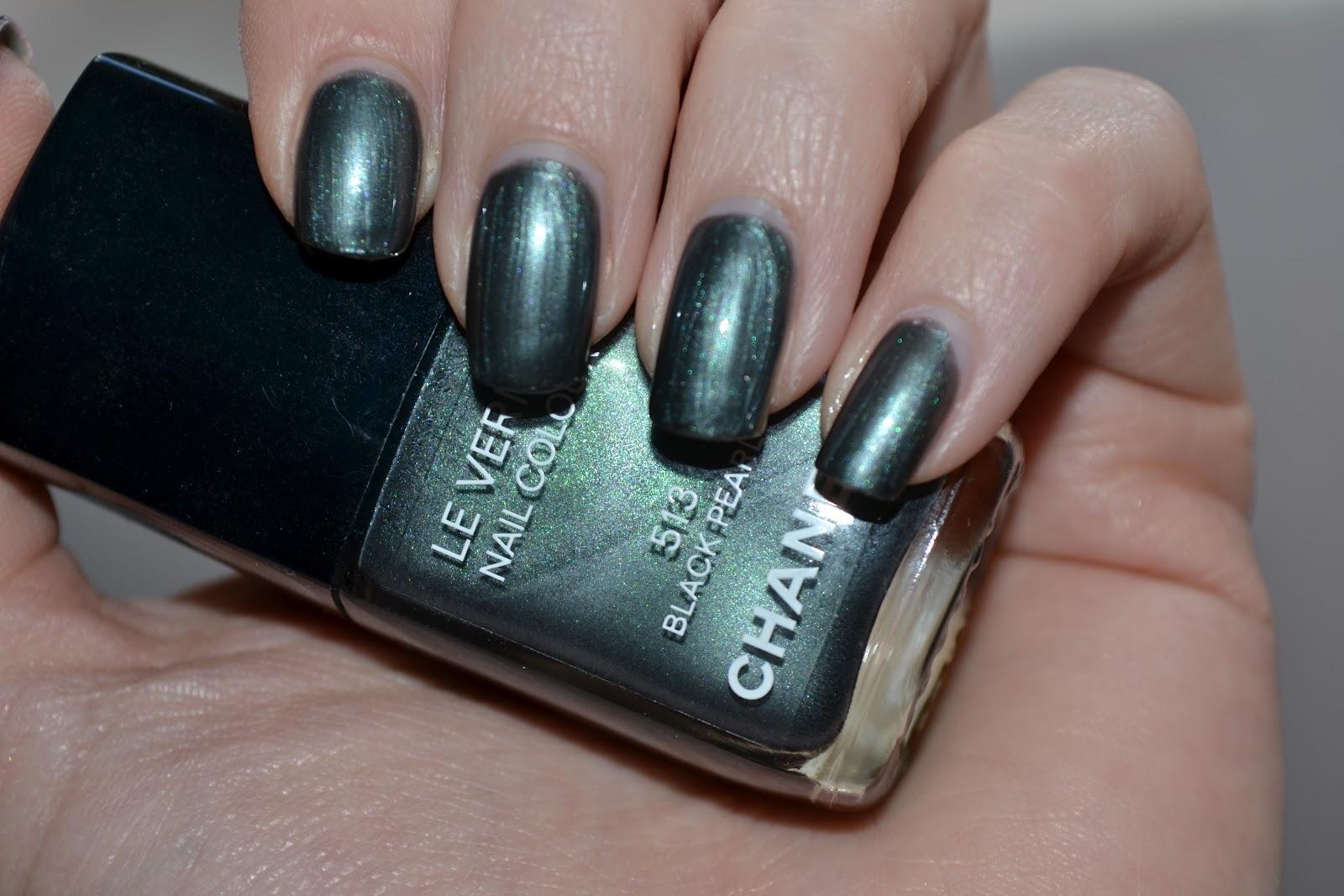 Makeupvitamins Chanel Black Pearl Nail Polish Swatch Amp Review