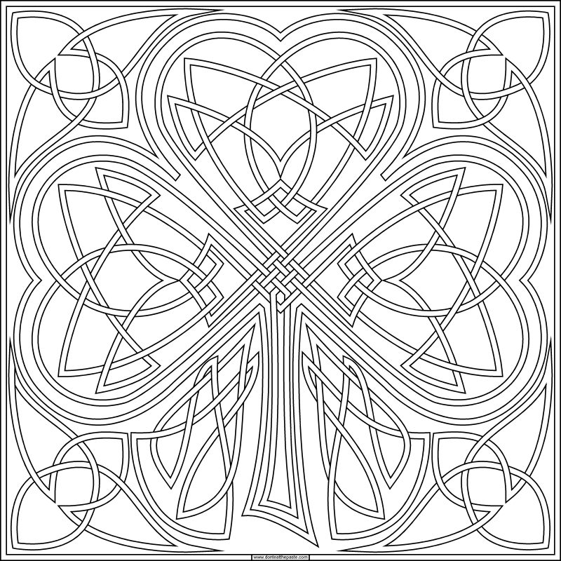 free coloring pages of shamrocks - photo#39