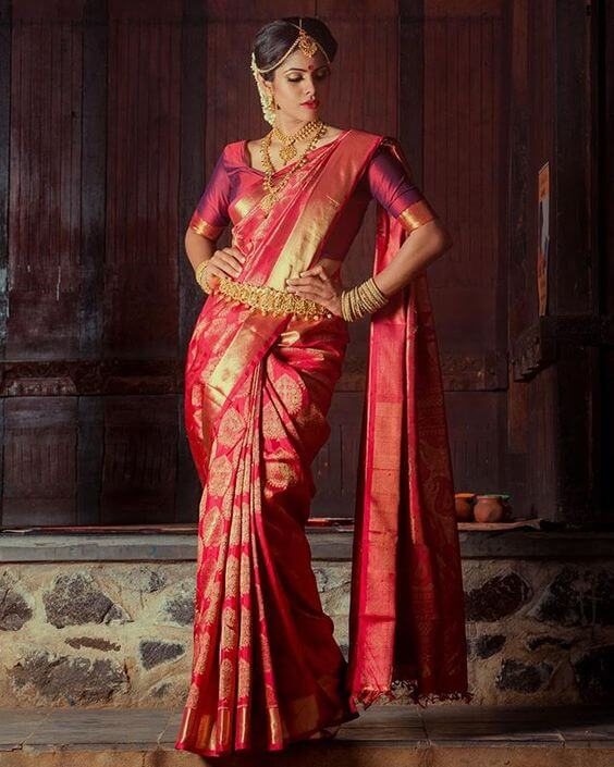 This Saree Design Is Definitely On The List Of South Indian Wedding Sarees To Admire