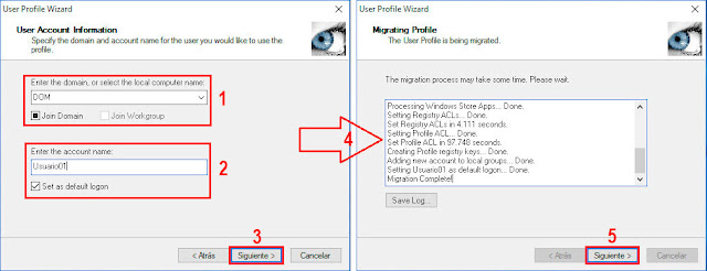 User Profile Wizard 3.12 de ForensIT - Set as default logon.