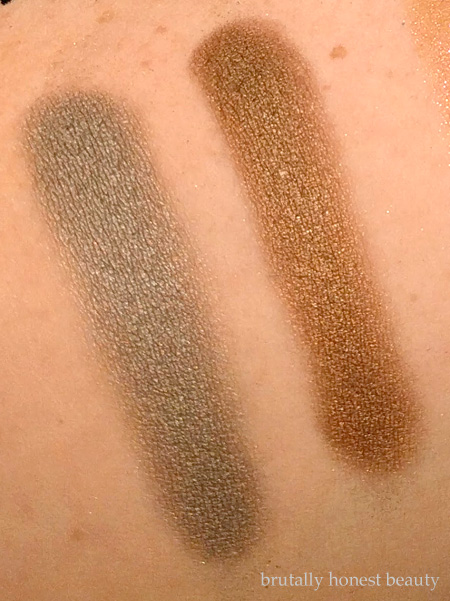 Swatches of Stila Diamond Lil and Golightly