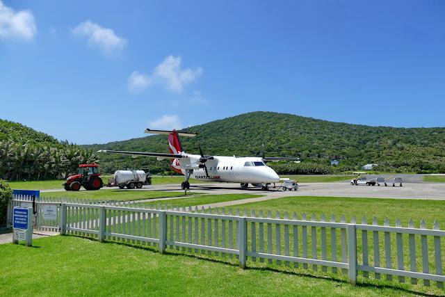 Lord Howe Island Start Tank lokal inland Flughafen Traktor Tipps gegen Flugangst Qantas