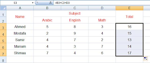 كيفية كتابة معادلات الاكسل formulas+4.jpg
