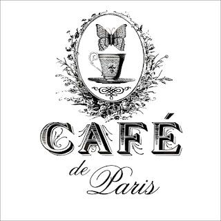 "Картинка для декупажа ""Кафе Париж"""