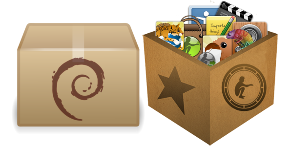 Ilustrasi package debian