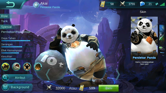 Hero Akai ( Pendekar Panda ) Tanker Build/ Set up Gear