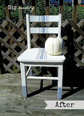 How to Refresh a Child's Banged-up Chair www.diybeautify.com