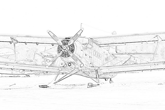 biplanes coloring pages coloring.filminspector.com Antonov AN-2