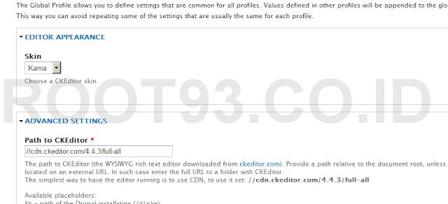 konfigurasi ckeditor yang tidak bisa ditampilkan