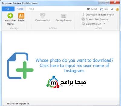 تحميل برنامج instagram downloader للتحميل من الانستجرام للكمبيوتر