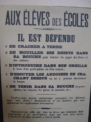 Recommandations affichées dans toutes les classes de France (collection musée)