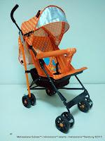 Kereta Dorong Bayi BabyDoes CH206 Clip Buggy Orange