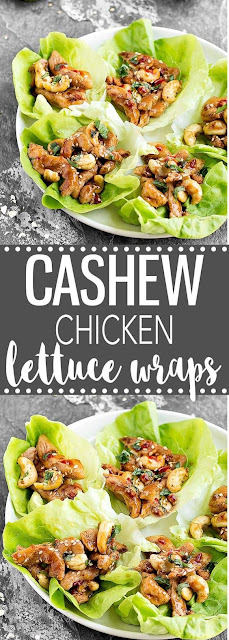 Cashew Chícken Lettuce Wraps