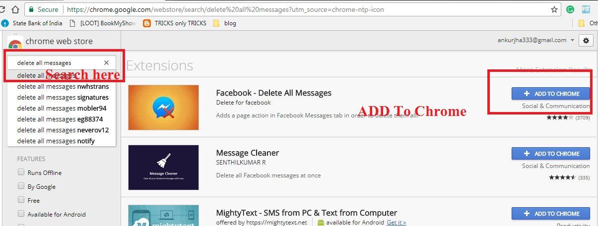 Facebook Ke All Messages Ek Sath Delete Kaise Kare