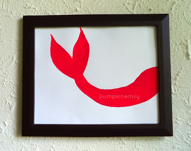 DIY Mermaid Fish Tail Silhouette Frame Art