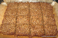 cooked flapjacks cut up
