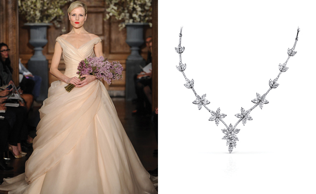 Best Necklace For V Neck Wedding Dress