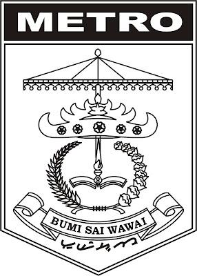 Anak Musick Logo Kota Metro Hitam Putih