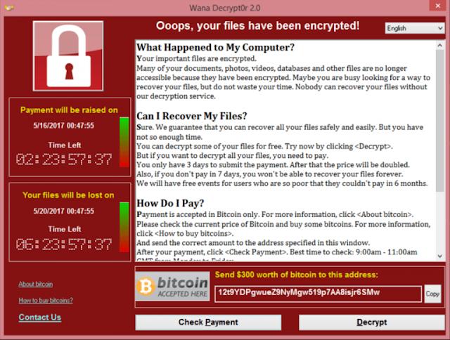 هكر عالمى Wanna crypt يسيطر على الشركات العملاقة والمؤسسات والبنوك حول العالم