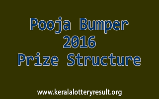 Pooja Bumper 2016 BR-52 Lottery Prize Structure
