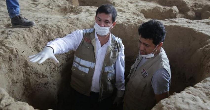 Sector Cultura supervisa hallazgos arqueológicos en huaca Las Abejas - Complejo arqueológico de Túcume - Lambayeque