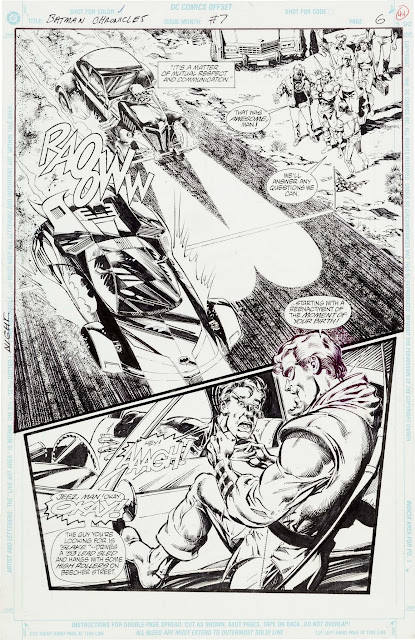 Jim Aparo and Sal Velluto original artwork for The Batman Chronicles #7 Page 6 Original Art (DC, 1997).